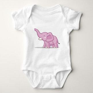 Elephant Raising Its Trunk Baby Bodysuit
