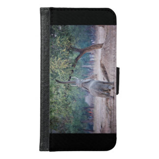 Elephant reaching for Acacia tree Samsung Galaxy S6 Wallet Case
