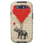 Elephant & red heart balloons galaxy SIII case