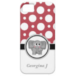 Elephant Red & White Polka Dot iPhone 5 Case