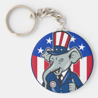 Elephant Republican Keychain