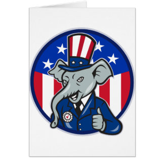 Elephant Republican Note Cards