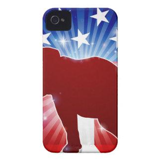 Elephant Republican Political Mascot iPhone 4 Case