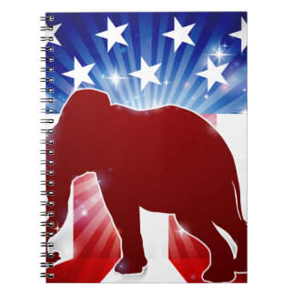 Elephant Republican Political Mascot Notebook