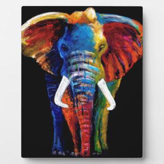 ELEPHANT RETRO STYLE PLAQUE