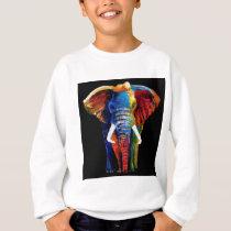 ELEPHANT RETRO STYLE SWEATSHIRT