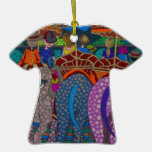 'Elephant Ride' original art products by Gwolly Christmas Ornaments