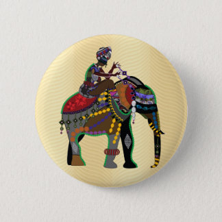 Elephant Rider Button