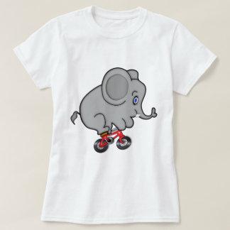 Elephant Riding a Bike Tshirts