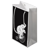 Elephant Riding Vintage Bike Small Gift Bag