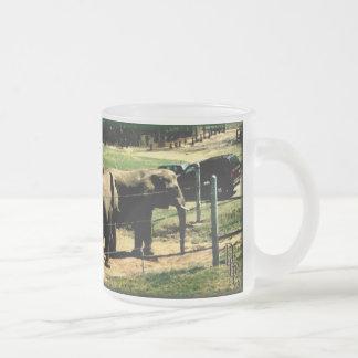 Elephant Road Frosted Glass Coffee Mug