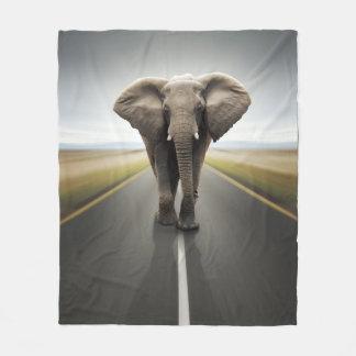 Elephant Road Travel Fleece Blanket