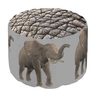 elephant round pouf