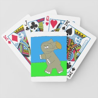 Elephant Runningback Bicycle Playing Cards