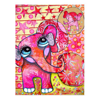 Elephant`s Baby Postcard