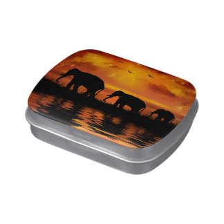 Elephant Safari Candy Tin