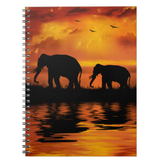 Elephant Safari Notebook