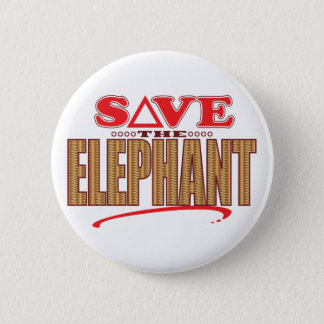 Elephant Save Pinback Button