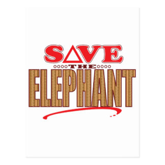 Elephant Save Postcard