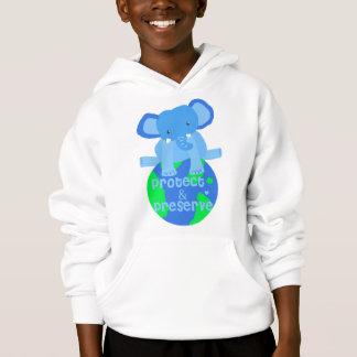 elephant save the earth hoodie