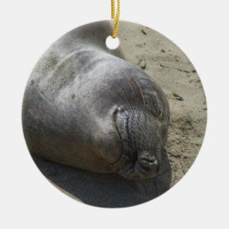 Elephant Seal Ceramic Ornament