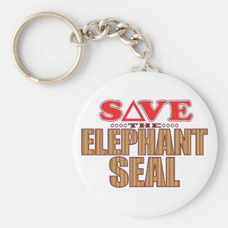 Elephant Seal Save Keychain