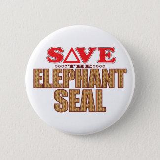 Elephant Seal Save Pinback Button