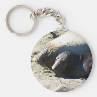 Elephant Seals Keychain