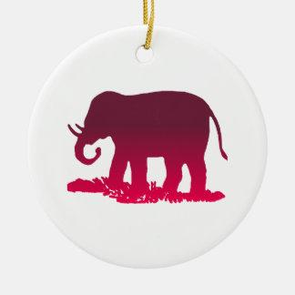 Elephant Shape Ceramic Ornament