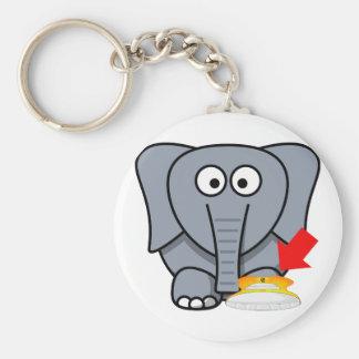 Elephant Shoe I Love You Keychain