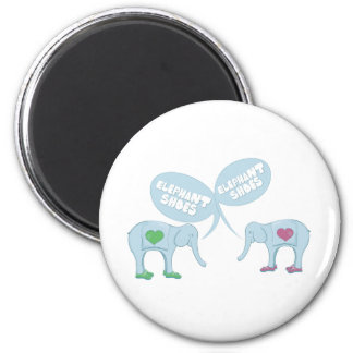 Elephant Shoes Refrigerator Magnets