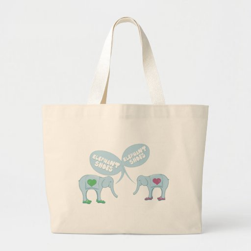 Elephant Shoes Tote Bags