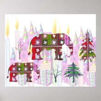 Elephant Show - Kids Happy Birthday Celebration Print