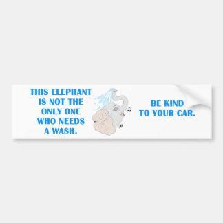 Elephant Shower Bumper Sticker