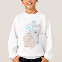 Elephant Shower Kids' Sweatshirt