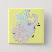 Elephant Shower Magnet Button