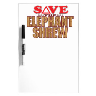 Elephant Shrew Save Dry-Erase Board