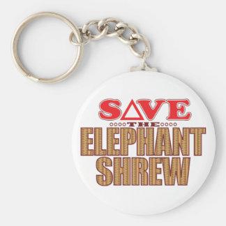 Elephant Shrew Save Keychain