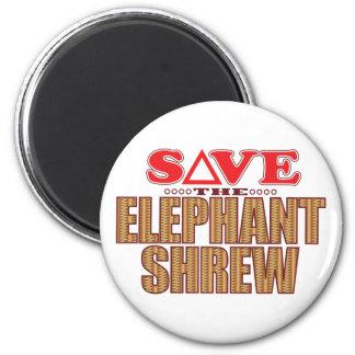 Elephant Shrew Save Magnet
