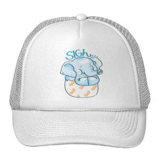 Elephant Sighing Happily Trucker Hat