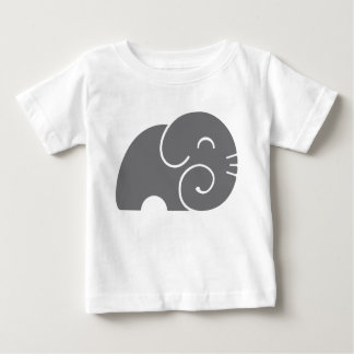 Elephant Silhouette Baby T-Shirt