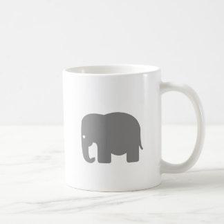Elephant Silhouette Classic White Coffee Mug