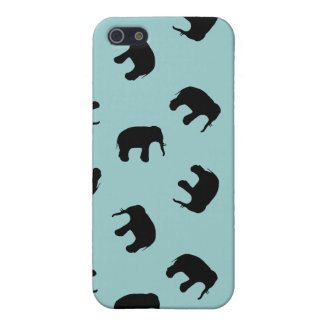Elephant Silhouette Pattern - custom background Cover For iPhone SE/5/5s