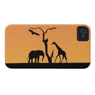 Elephant silhouette sunset blackberry bold case