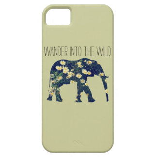 Elephant Silhouette Wanderlust Daisy Hipster Girly iPhone SE/5/5s Case