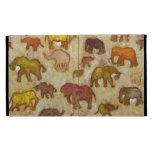 Elephant silhouettes painting iPad folio cover