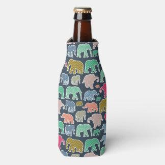 Elephant Silhouettes, Polka Dots, Chevron, Gingham Bottle Cooler