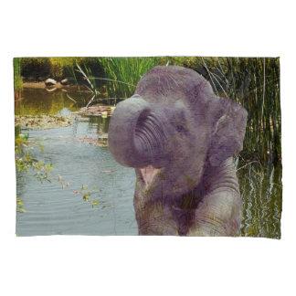 Elephant Single Pillowcase, Standard Size Pillowcase