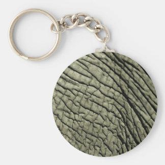 Elephant Skin Basic Round Button Keychain