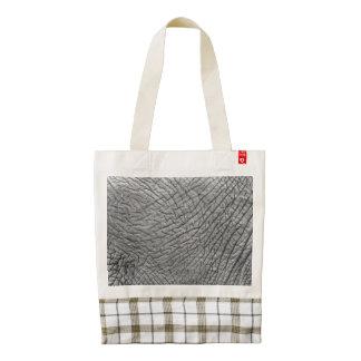 Elephant skin zazzle HEART tote bag